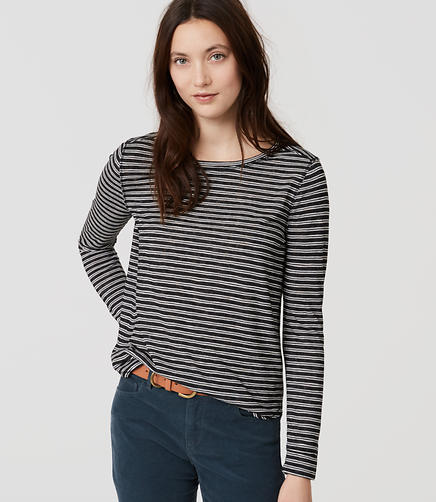 Image of Petite Striped Shirttail Layering Tee