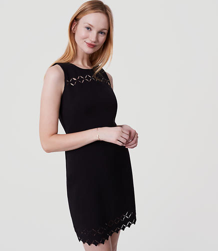 Image of Laser Cut Mosaic Flare Dress