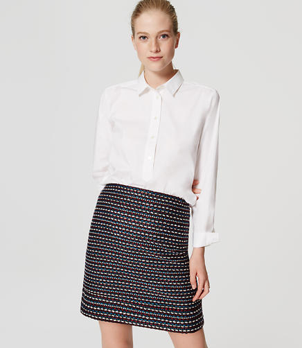 Image of Petite Stitched Shift Skirt