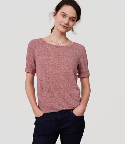 Image of Striped Linen Tee