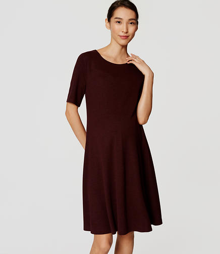 Image of Maternity Short Sleeve Flare Dress