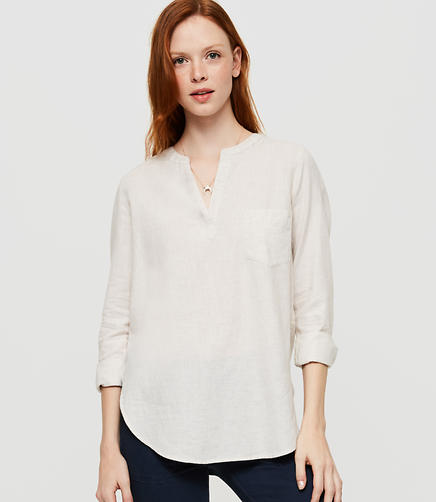 Image of Lou & Grey Collarless Pop-On Tunic
