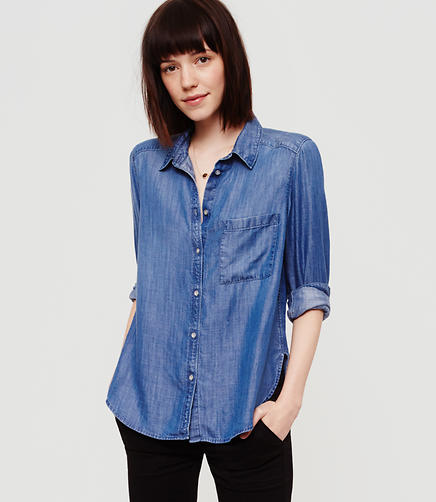 Image of Lou & Grey Chambray Button Down Shirt
