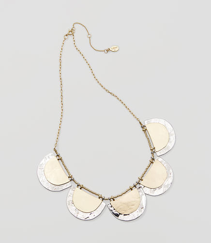 Image of Mixed Metallic Half Circle Necklace