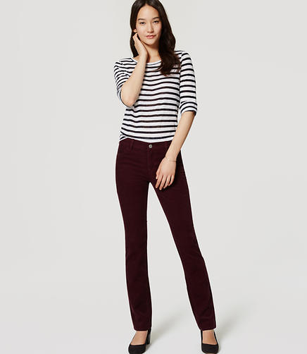 Image of Modern Straight Leg Corduroy Pants