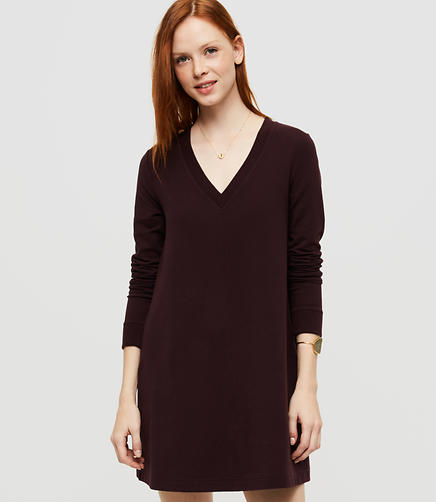 Image of Lou & Grey Rebound Terry V-Neck Dress