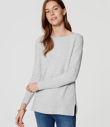 Image of Petite Boatneck Tunic Sweater