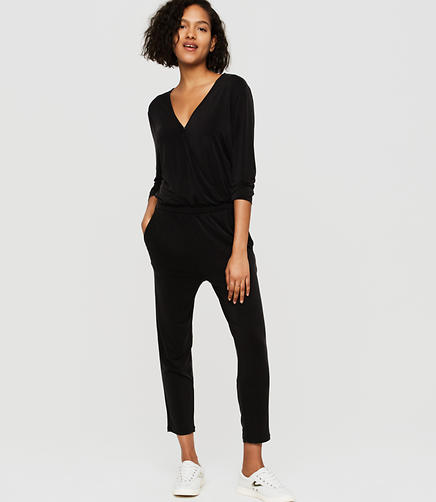 Image of Lou & Grey Fluid Crossover Jumpsuit