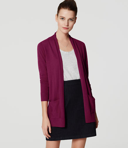 Image of Petite Open Pocket Cardigan