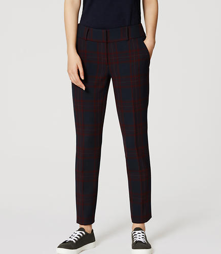 Image of Petite Plaid Essential Skinny Ankle Pants in Julie Fit