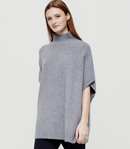 Image of Lou & Grey Funnelneck Poncho Sweater