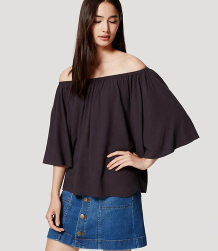 Image of Off the Shoulder Swing Top