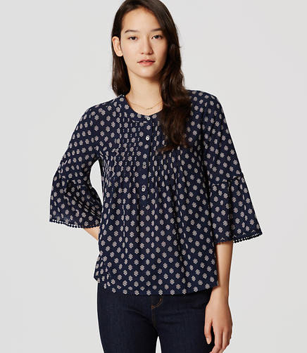 Image of Geo Bell Sleeve Top