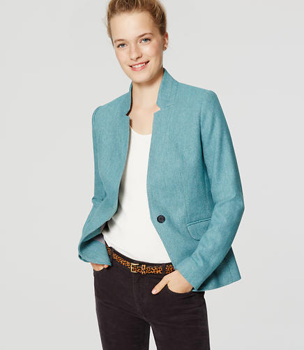 Image of Tweed Notched Blazer