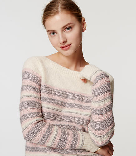 Image of Fairisle Striped Sweater