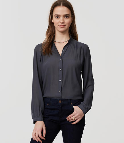 Image of Ruffle Neck Blouse