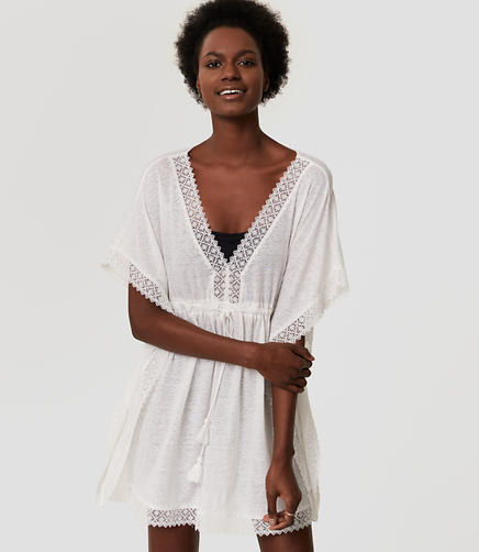 Image of LOFT Beach Lacy Caftan Dress