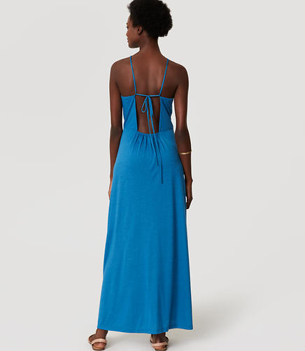 Image of LOFT Beach Strappy Halter Maxi Dress