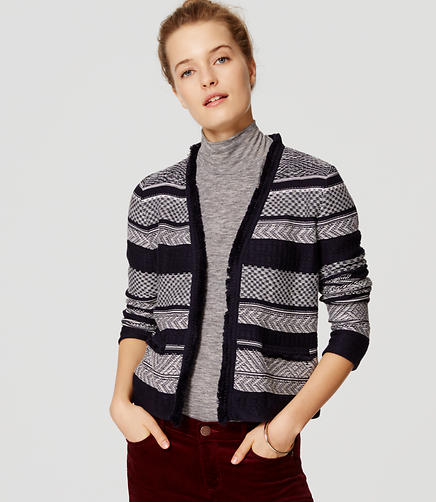 Image of Jacquard Stripe Jacket