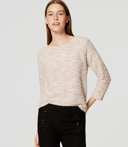 Image of Eyelash Boucle Sweatshirt
