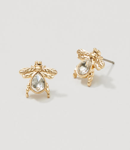 Image of Crystal Bee Stud Earrings