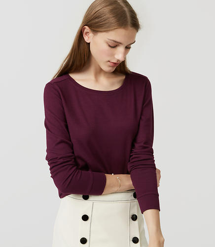 Image of Petite Shirttail Layering Tee