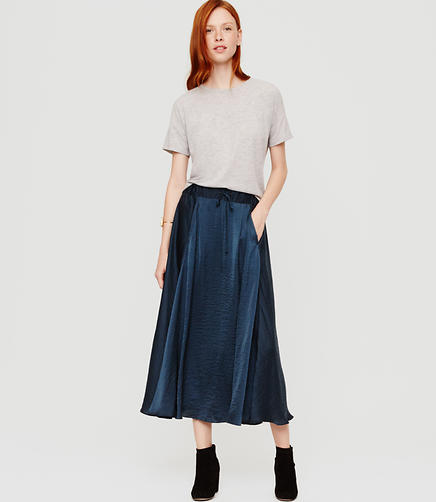 Image of Lou & Grey Luster Drawstring Midi Skirt