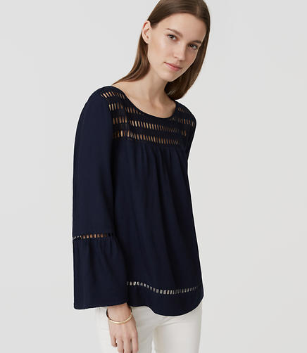 Image of Lacy Bell Sleeve Blouse