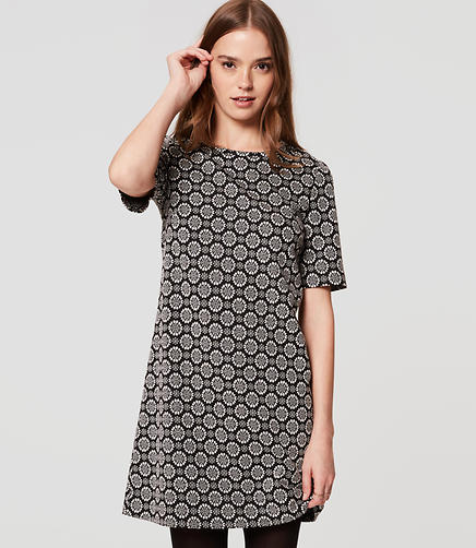 Image of Petite Chantilly Dot Shift Dress