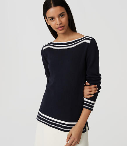 Image of Border Stripe Sweater