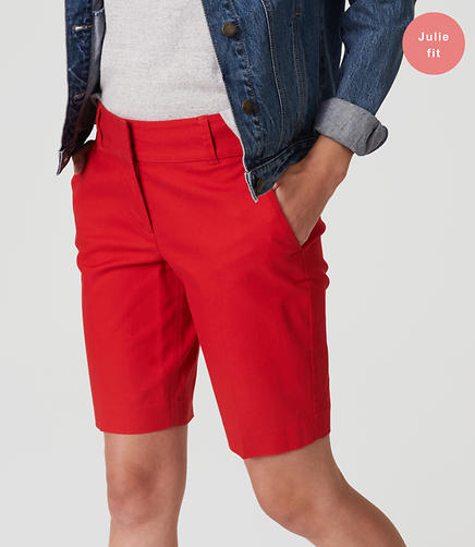 Image of Basketweave Walking Shorts in Julie Fit