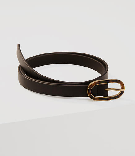 Image of Tortoiseshell Print Buckle Belt