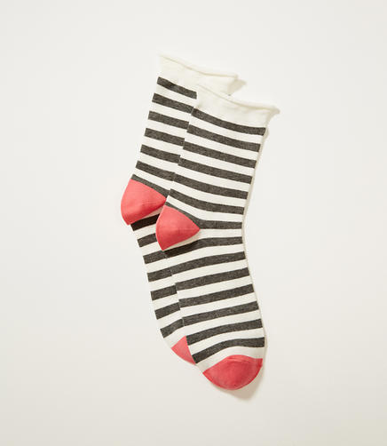 Image of Striped Crew Socks