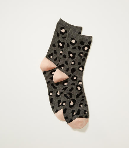 Image of Leopard Print Crew Socks