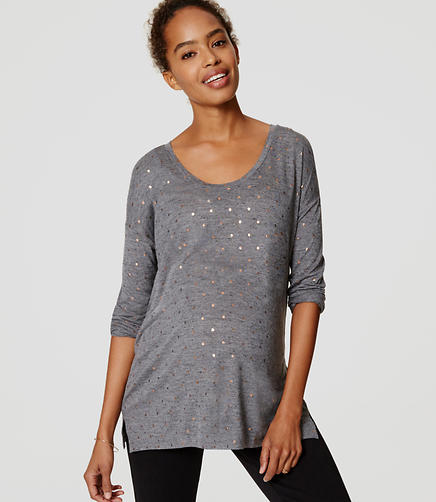 Image of Maternity Shimmer Dot Drapey Tee