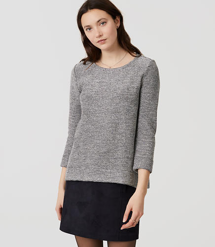 Image of Shimmer Boucle Top