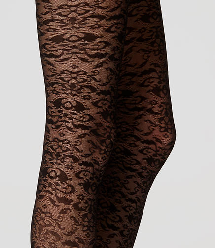 Image of Floral Lace Tights