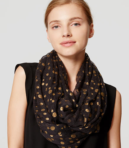 Image of Shimmer Dot Infinity Scarf