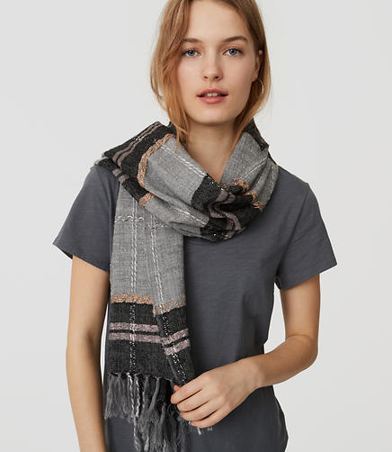 Image of Shimmer Plaid Scarf