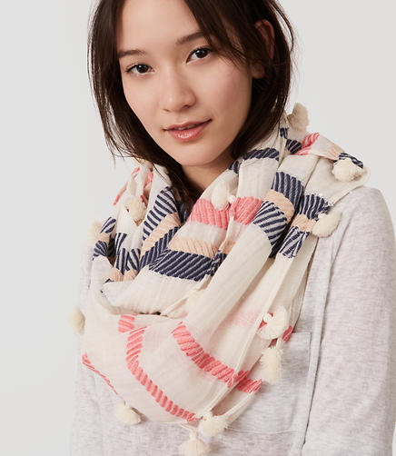 Image of Textured Stripe Infinity Scarf