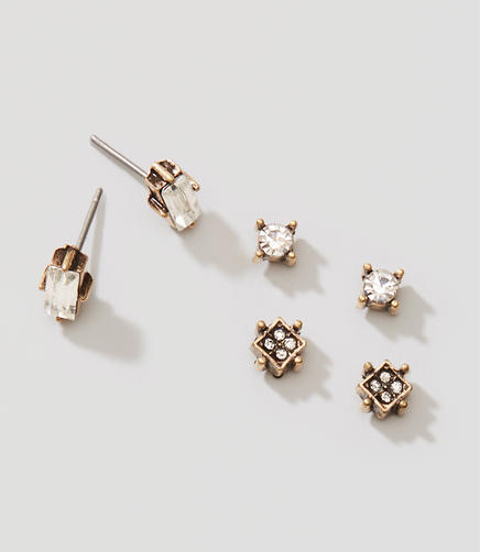 Image of Constellation Crystal Stud Earring Set