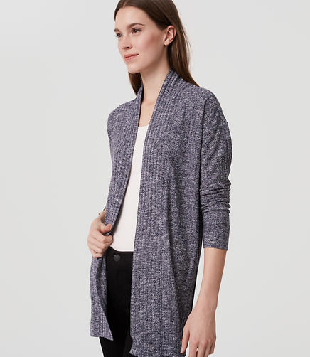 Image of Ribbed Open Cardigan