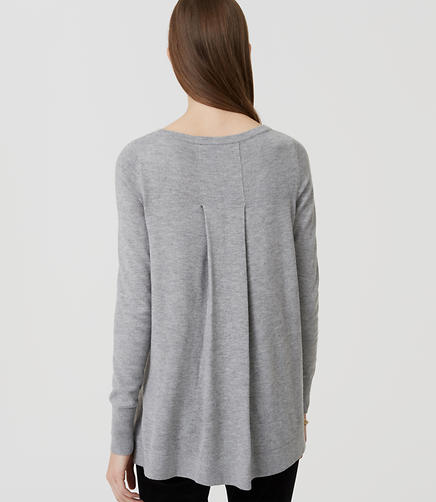Image of Petite Back Pleat Sweater