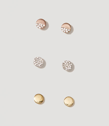 Image of Disc Stud Earring Set