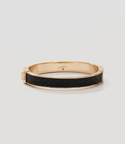 Image of Faux Leather Hinge Bracelet