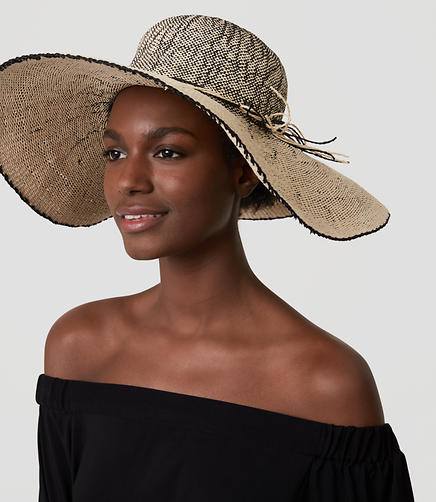 Image of Ombre Floppy Straw Hat