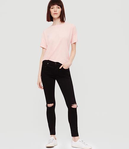 Image of Lou & Grey Destructed Skinny Jeans