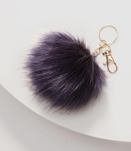Image of Faux Fur Pom Pom Keychain