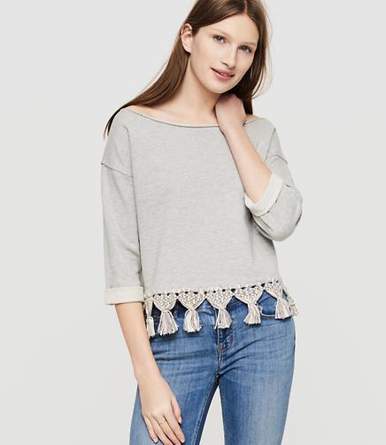 Image of Lou & Grey Fringe Sweatshirt