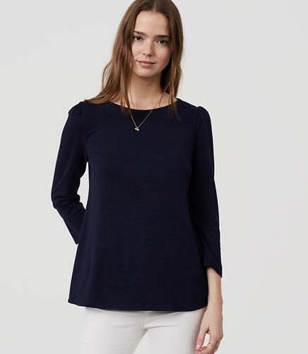 Image of Petite Puff Shoulder Swing Tee